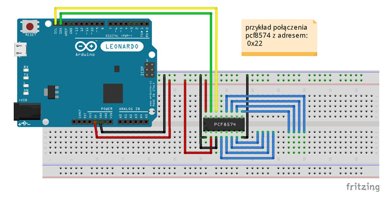 ekspander pcf8574 arduino